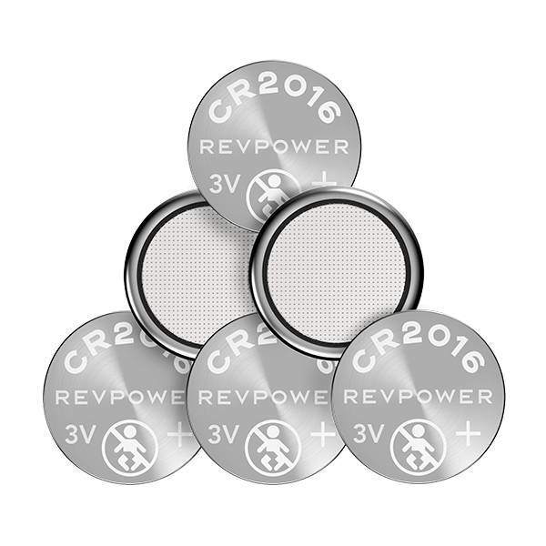REVPOWER CR2016 LITHIUM COIN BATTERY - 6 pack