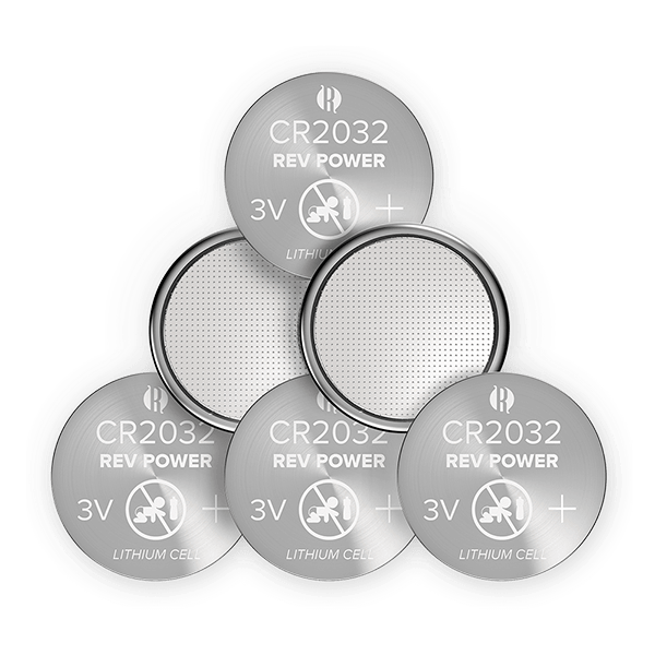 REVPOWER CR2032 LITHIUM COIN BATTERY - 6 pack